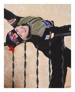 Sofie Manarin painting by Dave Nighbor